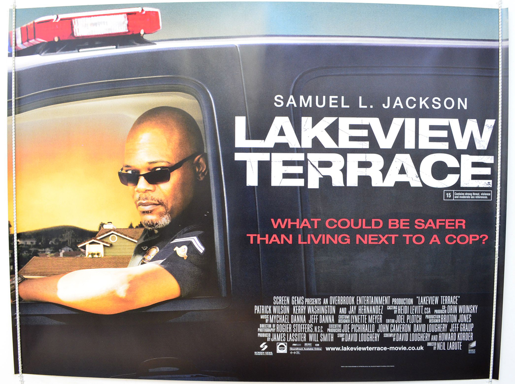 Lakeview terrace original cinema movie poster from for Movies at the terrace