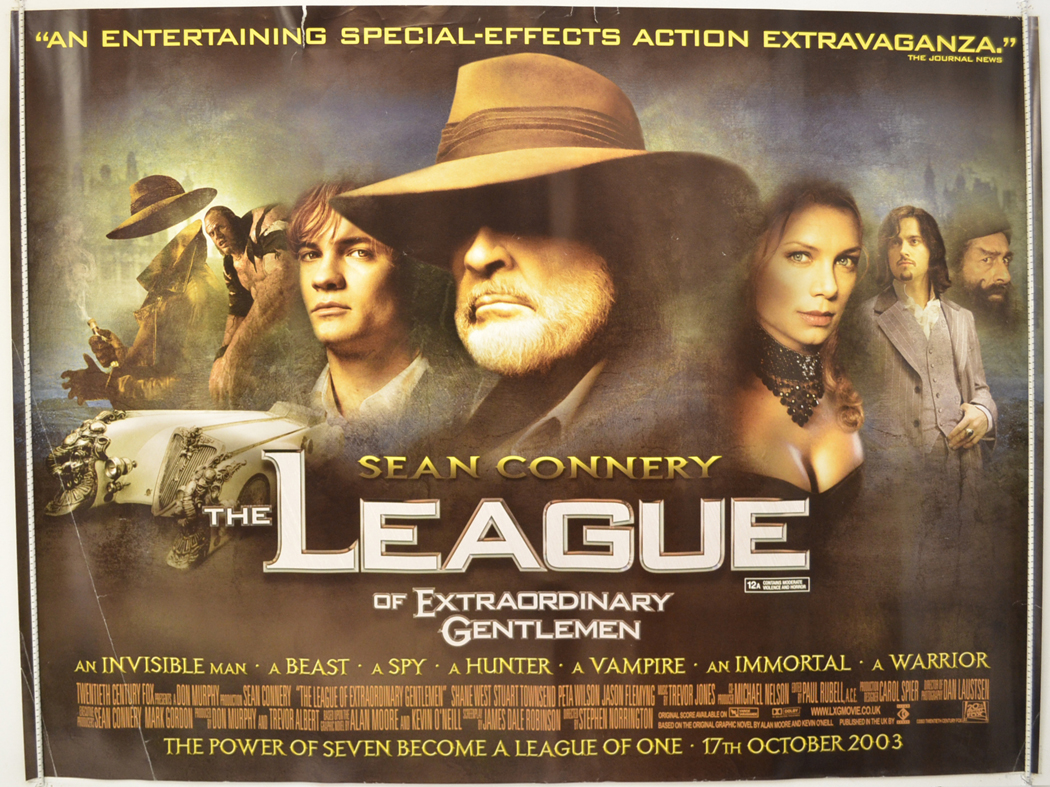 Movie Posters 2003: THE LEAGUE OF EXTRAORDINARY GENTLEMEN (2003) Quad Movie