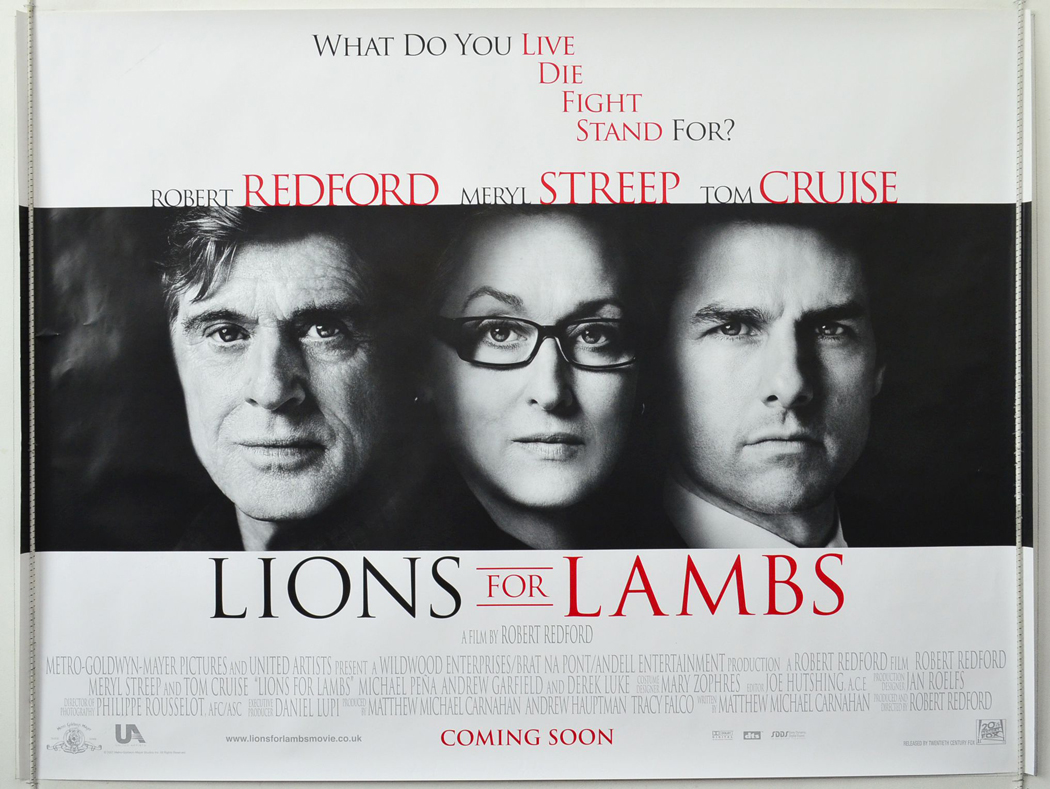 lions for lambs original cinema movie poster from