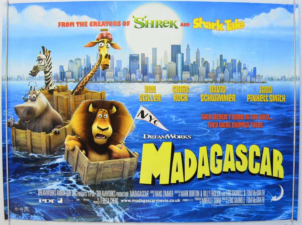 Madagascar - Original Cinema Movie Poster From pastposters.com ...