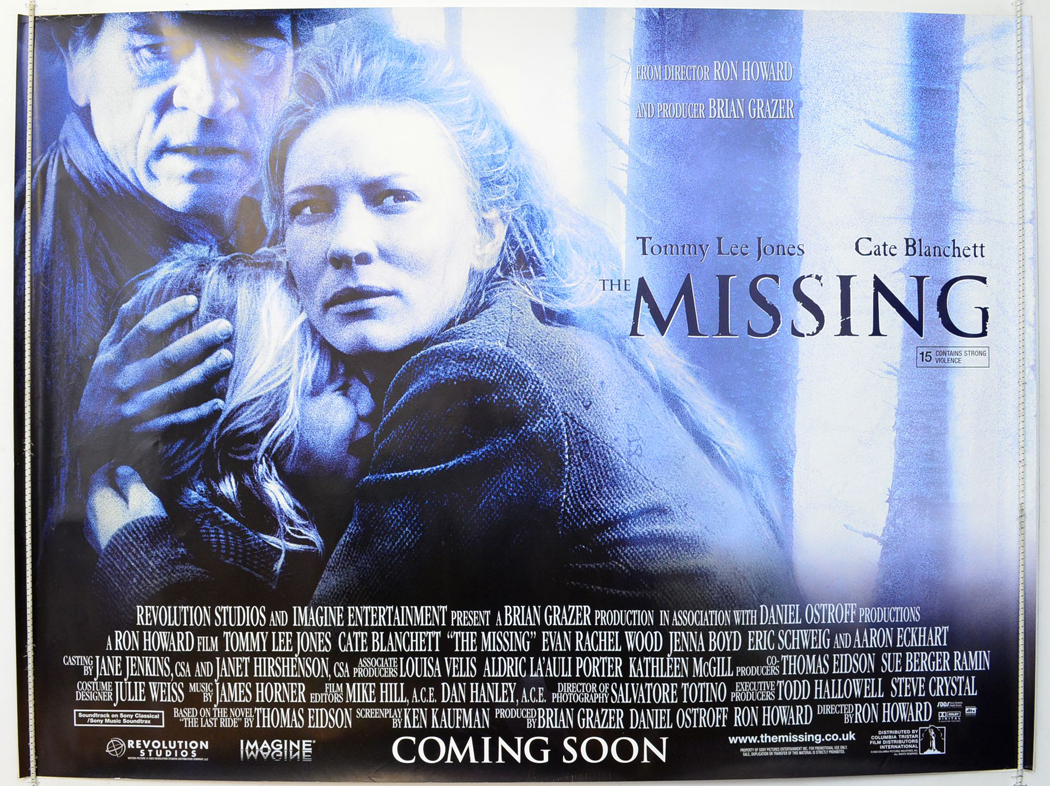 Movie Posters 2003: THE MISSING (2003) Original Quad Movie Poster