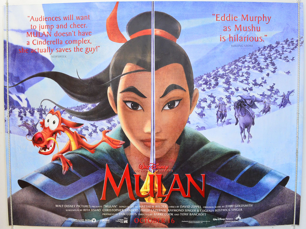 Mulan - Original Cinema Movie Poster From pastposters.com ...