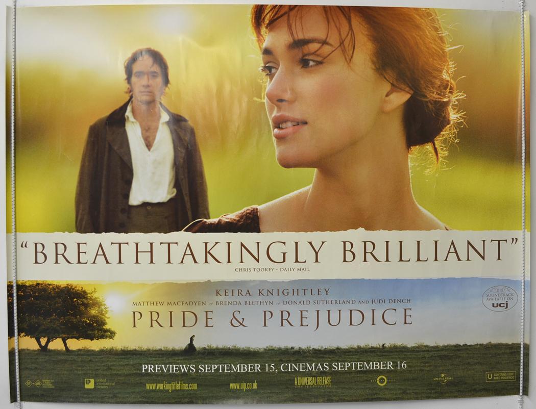 Pride And Prejudice - Original Cinema Movie Poster From ...