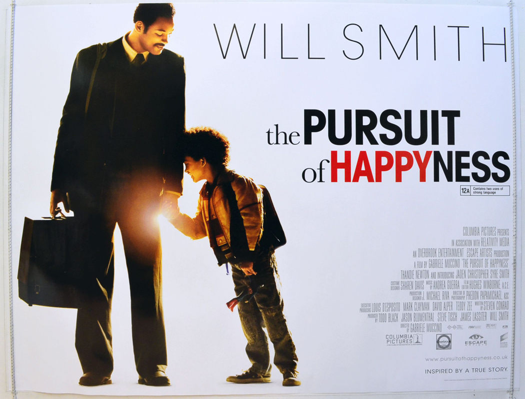 pursuit of happyness essay movie Essay about the pursuit of happiness - what does it mean to be happy - for our economics subject, we watched the pursuit of happyness, a movie based on chris gardner, a salesman who was not making that much money and eventually experiences homelessness with his five-year old son.