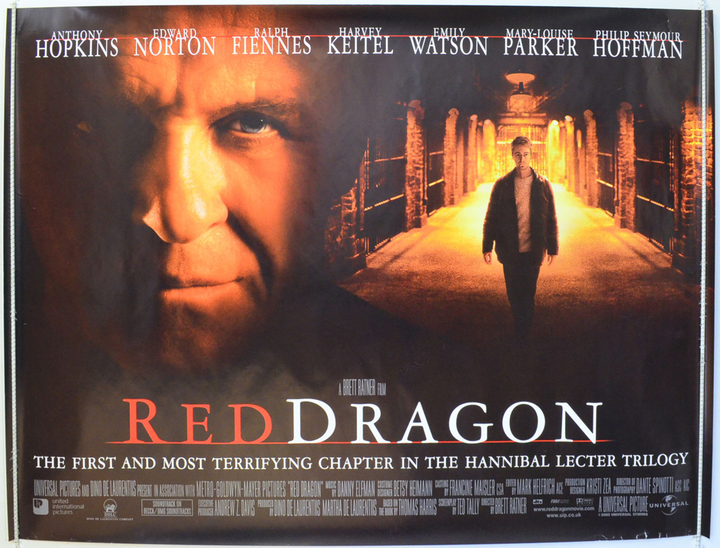 Red Dragon - Original Cinema Movie Poster From pastposters ...