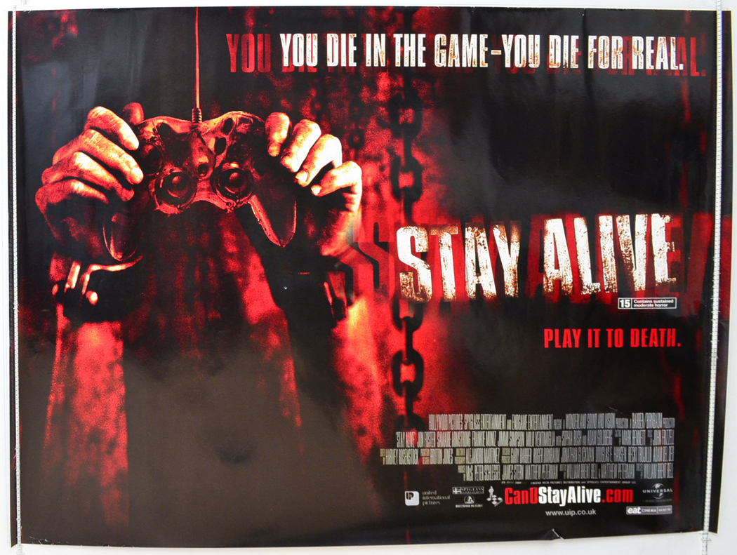 stay alive original cinema movie poster from pastposters