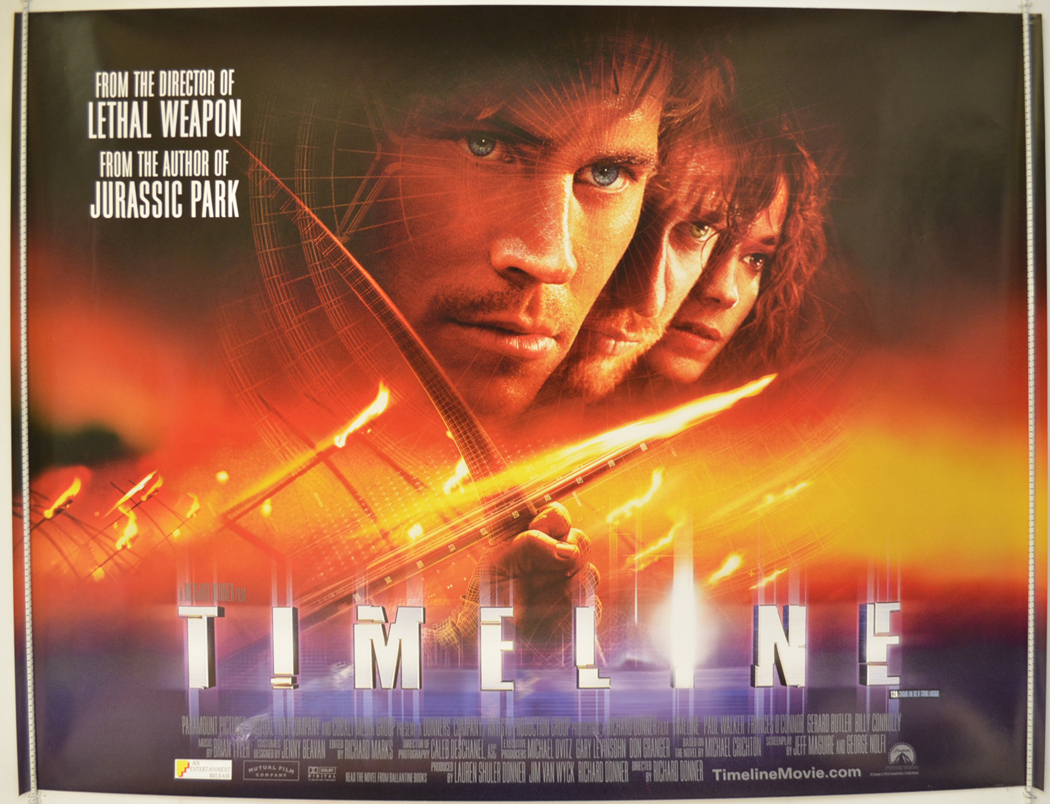 Movie Posters 2003: TIMELINE (2003) Original Cinema Quad Movie Poster