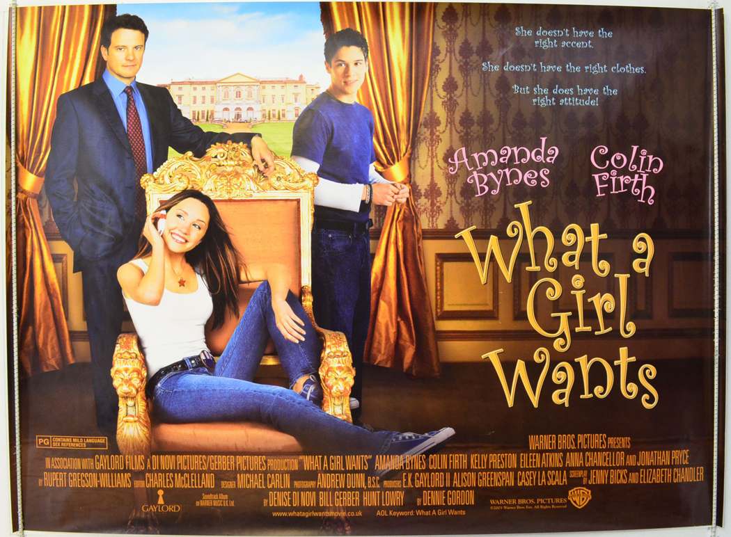 what a girl wants original cinema movie poster from