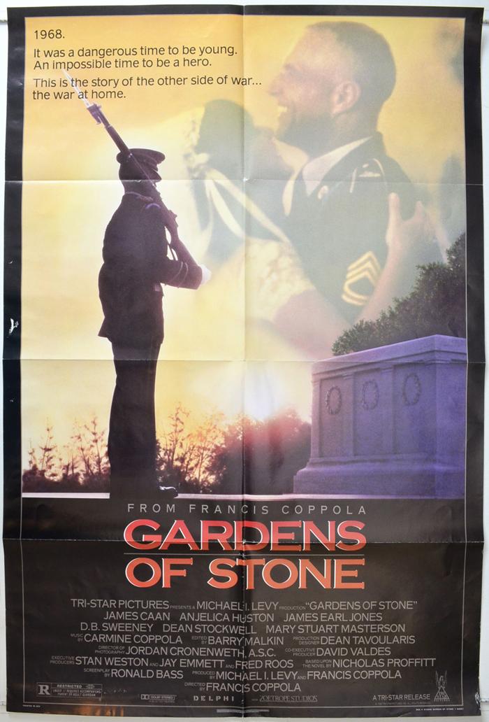 gardens of stone original cinema movie poster from