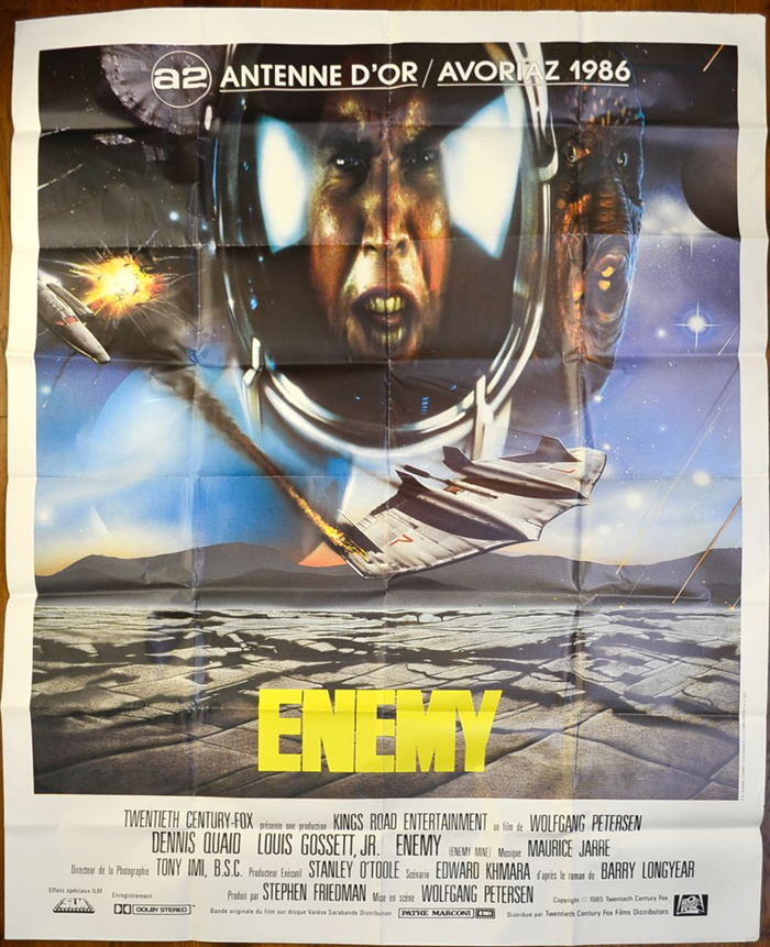 Enemy <p><i> (a.k.a. Enemy Mine) <br> French One Panel / Grande Affiche <i><p>