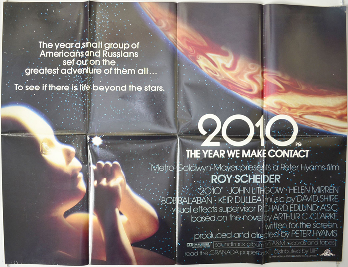 2010 : The Year We Make Contact <p><i> (White Text Glossy Version) </i></p>