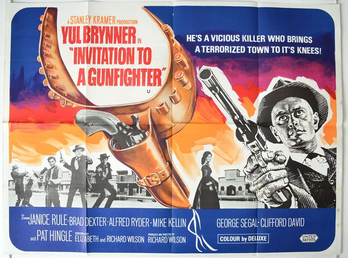 (JamieF DE)__InvitationToAGunfighter(1) invitation to a gunfighter original cinema movie poster from,Invitation To A Gunfighter 1964