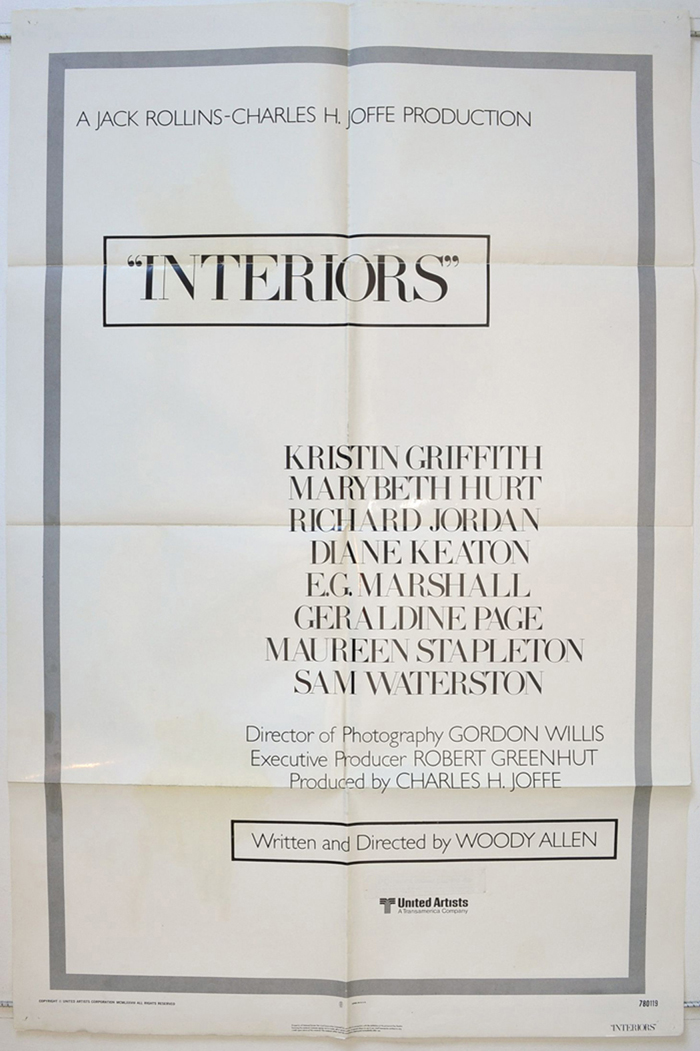 Interiors Original Cinema Movie Poster From British Quad Posters And Us 1