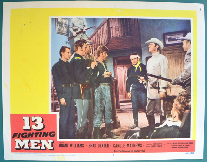 13 Fighting Men <p><a> Single USA Lobby Card </i></p>