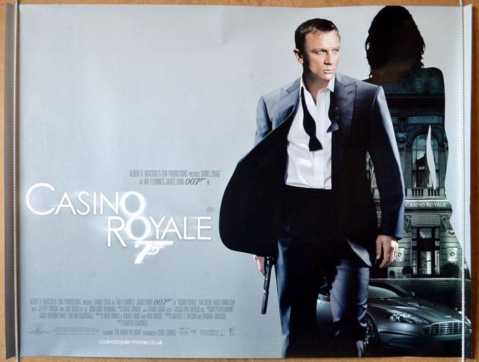007 casino royale james bond original cinema movie poster from