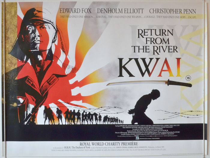 Return from the river kwai original cinema movie poster from