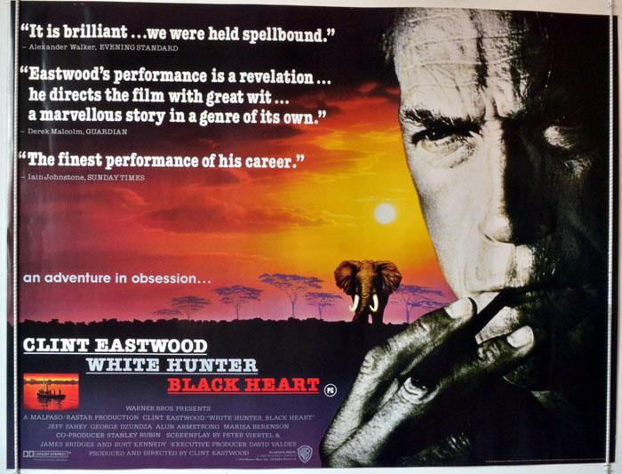 white hunter black heart original cinema movie poster