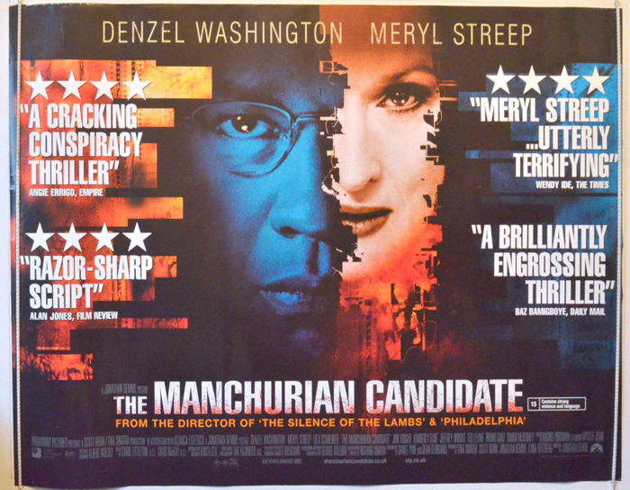 Movie poster of the manchurian canadate