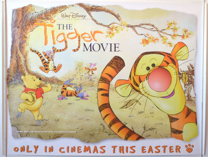 tigger movie teaser original cinema movie poster from