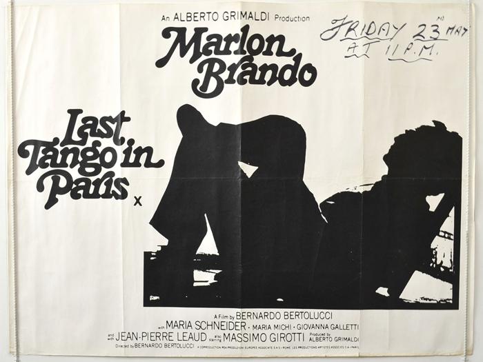 Last tango in paris rare white background black silhouette version