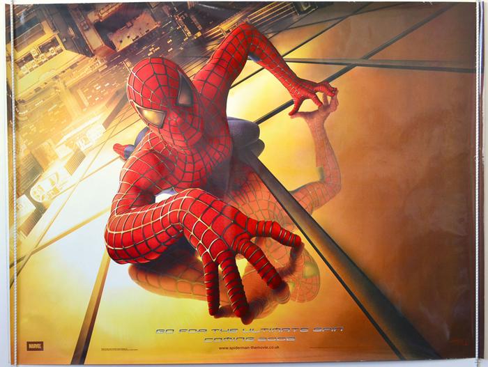 Spider man teaser advance version original cinema movie poster from - Quad spiderman ...