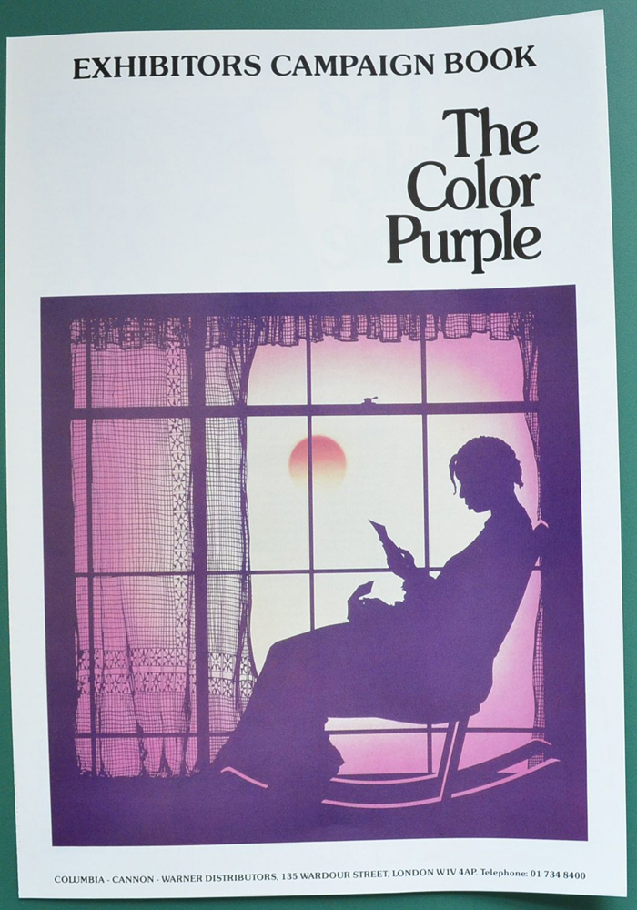 Color purple the original 6 page cinema exhibitor 39 s for The color purple book pages