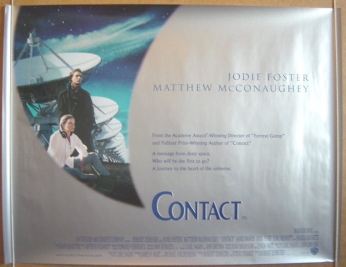 Movie Posters 1997: CONTACT (1997) Cinema Quad Movie Poster