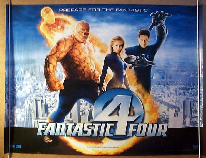 fantastic four teaser original cinema movie poster