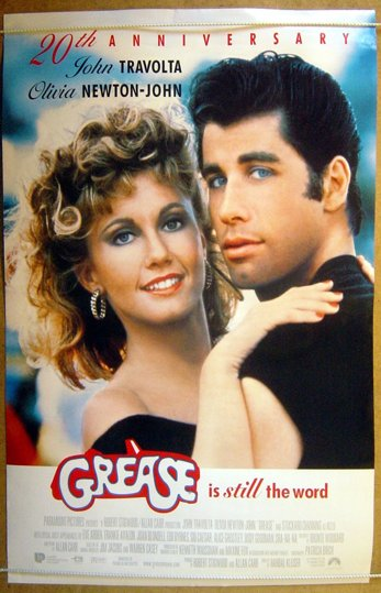 Grease 20th Anniversary Original Cinema Movie Poster
