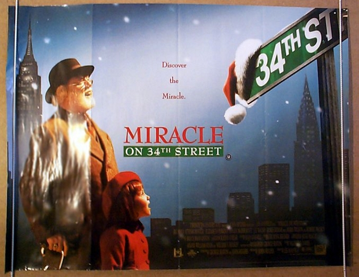 Miracle On 34th Street Original Cinema Movie Poster From