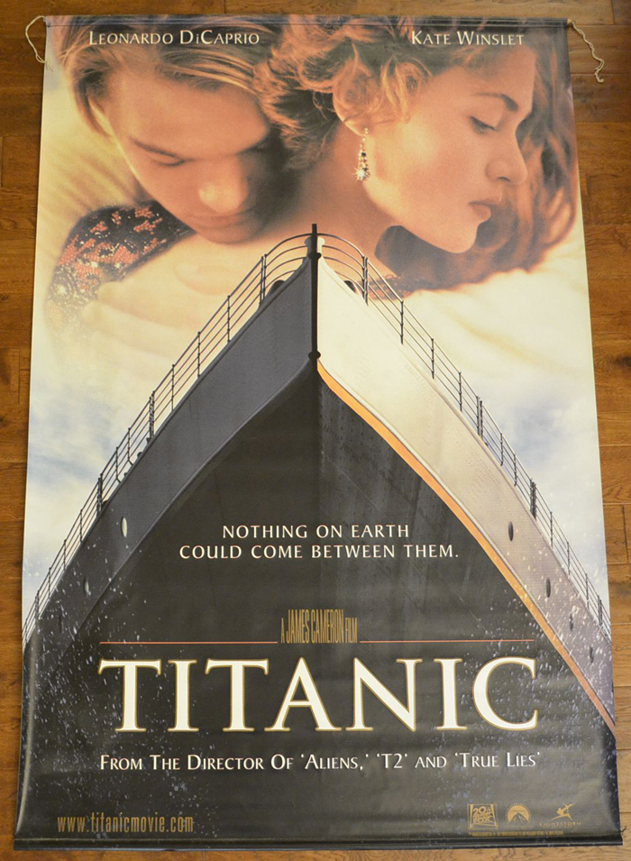 titanic cinema banner original cinema movie poster