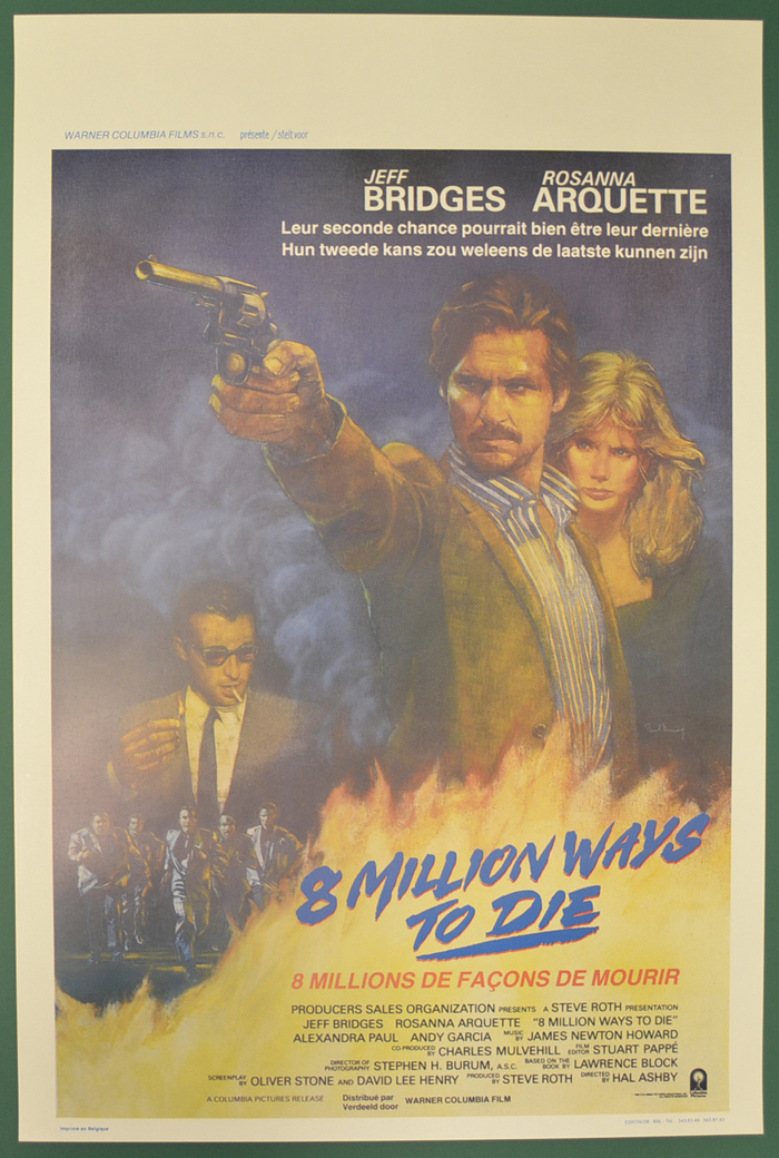 8 Million Ways To Die <p><i> (Original Belgian Movie Poster) </i></p>