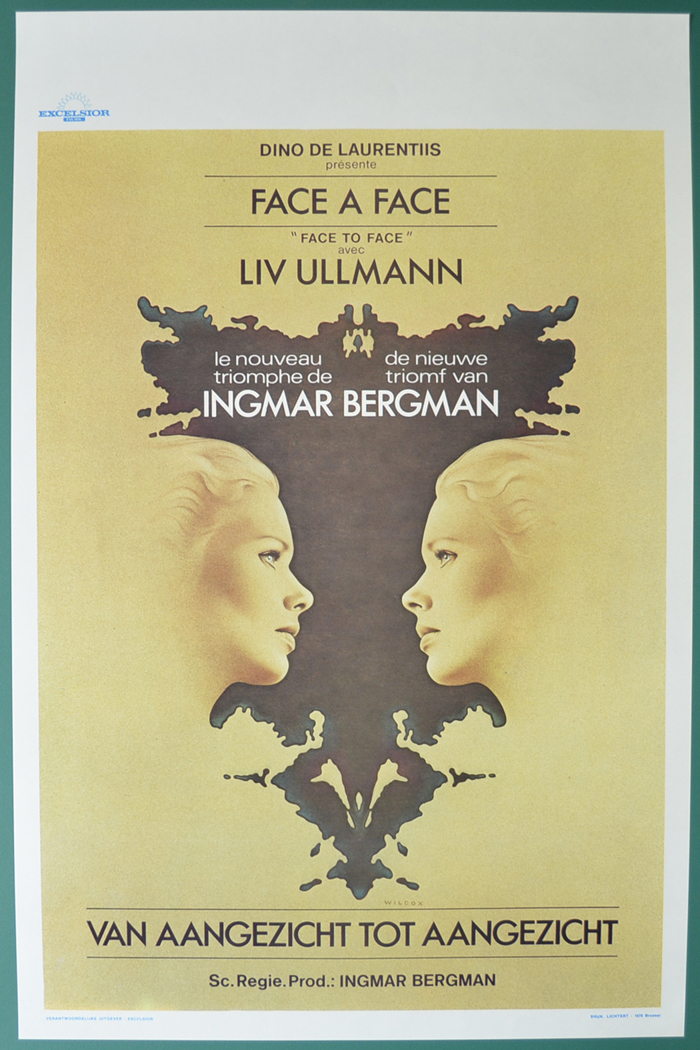 Face To Face <p><i> (Original Belgian Movie Poster) </i></p>