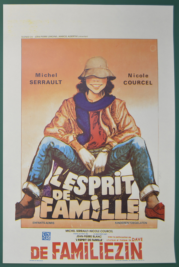 L 39 esprit de famille original belgian movie poster for Esprit de famille decoration