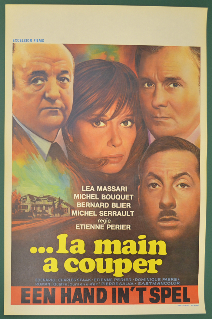 .. La Main A Couper <p><i> (Original Belgian Movie Poster) </i></p>