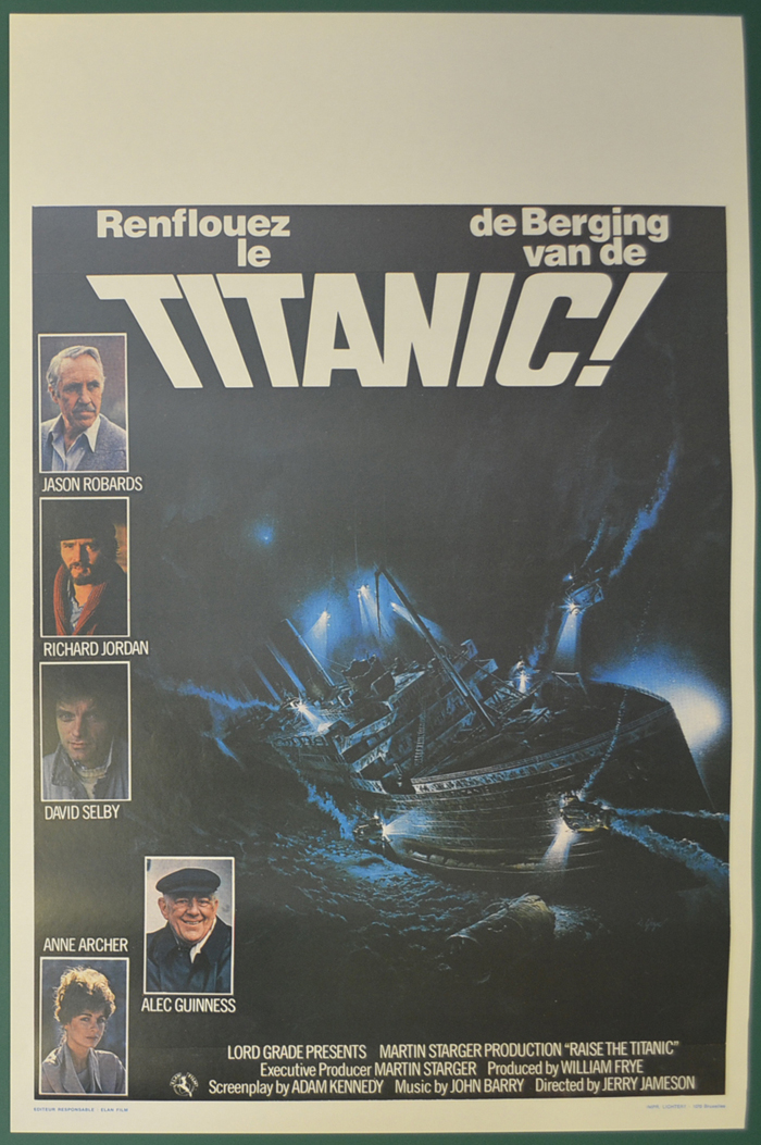 raise the titanic original belgian movie poster