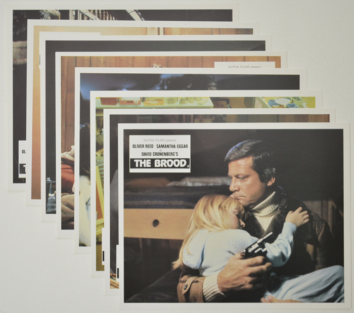 Brood (The) <p><a> Set of 8 Original Colour Front Of House Stills / Lobby Cards </i></p>