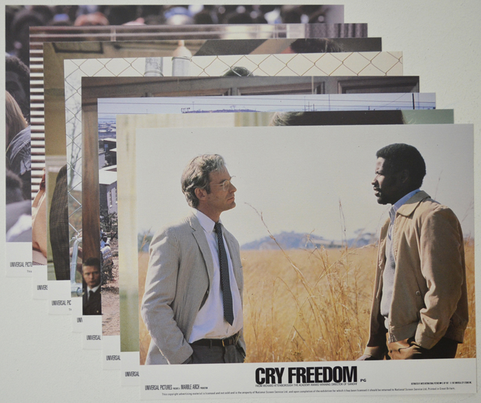 Cry Freedom <p><a> Set of 8 Original Colour Front Of House Stills / Lobby Cards  </i></p>