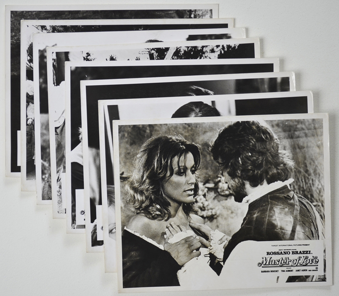 Master Of Love <p><a> Set of 8 Original Front Of House Stills / Lobby Cards </i></p>