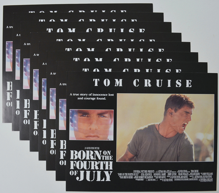 Born On The Fourth Of July <p><a> Set Of 8 Cinema Lobby Cards </i></p>