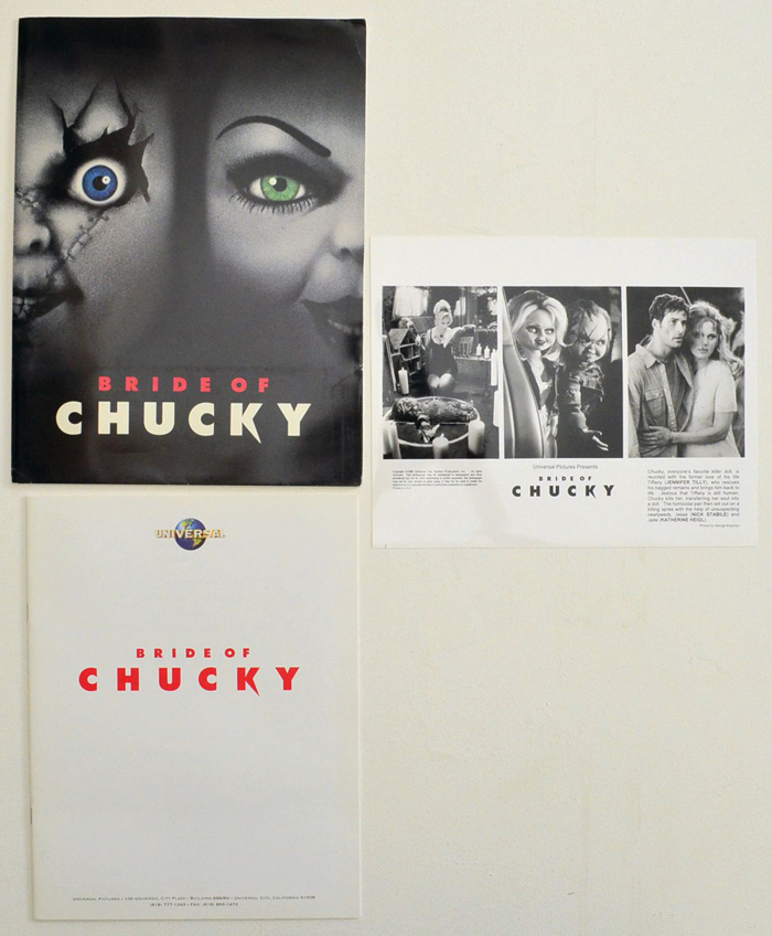 Bride Of Chucky <p><i> Original Press Kit with 1 Black & White Still </i></p>