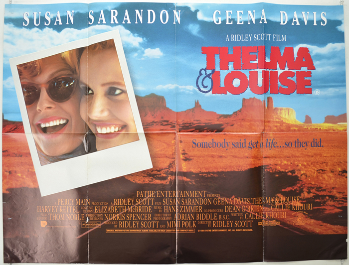 thelma and louise original cinema movie poster from