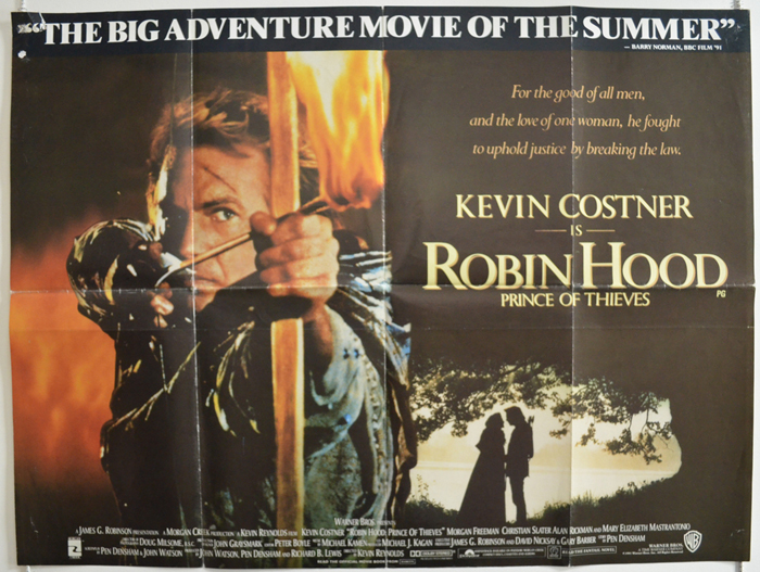 Robin Hood Prince Of Thieves Original Cinema Movie