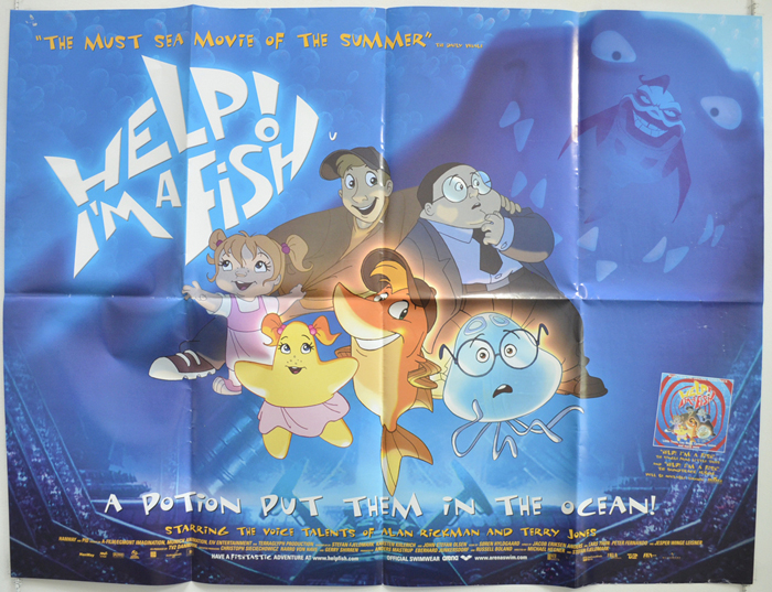 Help i 39 m a fish original cinema movie poster from for Help i ma fish