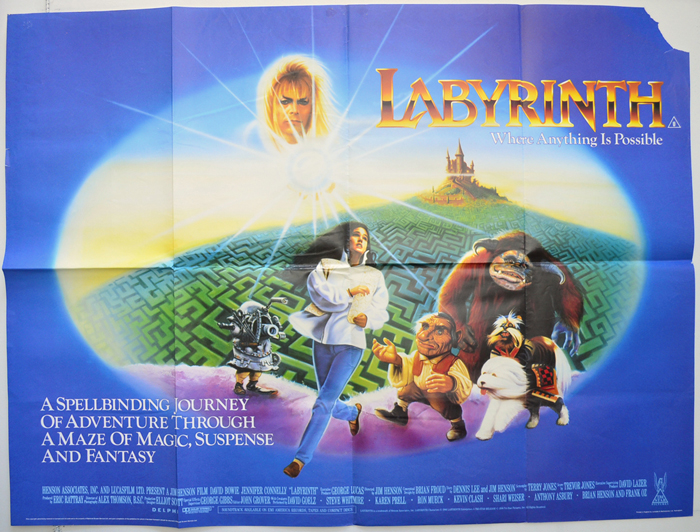 Labyrinth - Original Cinema Movie Poster From pastposters ... Labyrinth 1986 Poster