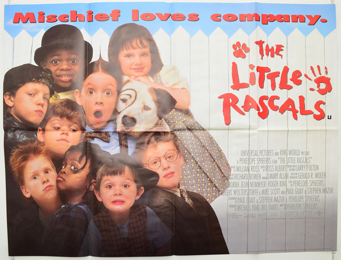 little rascals the original cinema movie poster from
