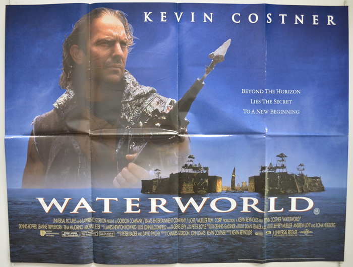 1995 Movie Posters: WATERWORLD (1995) Original Cinema Quad Movie Poster