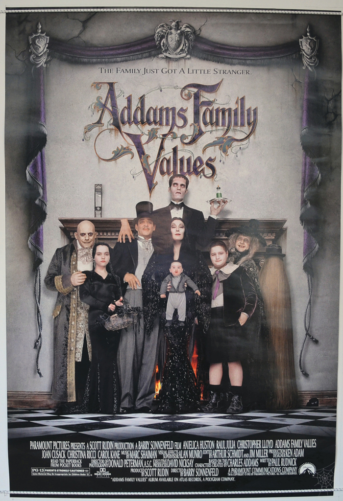 addams family values original cinema movie poster from