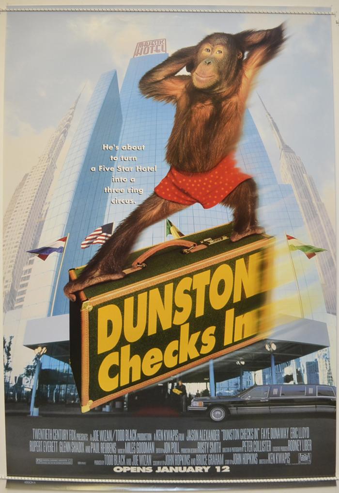 dunston checks in original cinema movie poster from