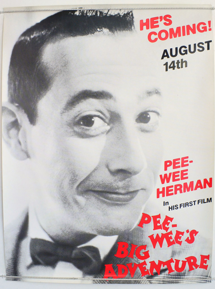 PEE WEE'S BIG ADVENTURE Original Cinema Quad Poster